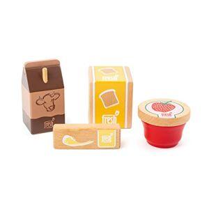 Small Foot 11439 Set de Petit déjeuner Fresh, en Bois, 4 pices, Jouets de rle, Multicolore - Publicité