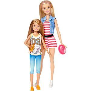 Barbie et Stacie coffret poupées jeux d'extérieur, jouet pour enfant, DWJ64 - Publicité