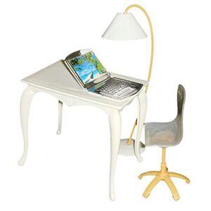 MagiDeal Lots Lampe Chaise Bureau Pour 29cm Poupées Doll Couleur Aléatoire - Publicité