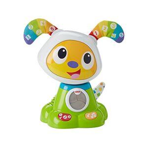 Fisher Price Bebo le Chien Robot Interactif, Jouet Sons et Lumières pour Apprendre à Lire et à Écrire à Bébé, 9 Mois et Plus, FBC94 - Publicité