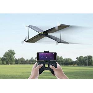 Parrot Pack MiniDrone Quadricoptère/Avion Swing + Télécommande Flypad Noir/Blanc - Publicité