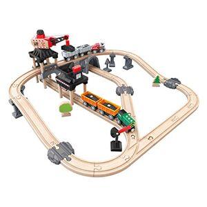Hape --E3756-Circuit Bois-Train de la Mine Mining Loader Circuits de Voitures, E3756, Multicolore, Taille Unique - Publicité