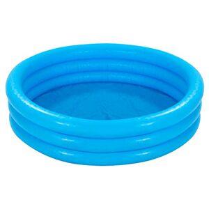INTEX Piscine bleue ronde Ø 1.47M x H 33 cm 3 boudins Hauteur 33 cm - Publicité
