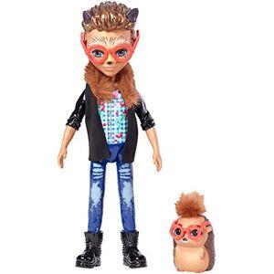 """ENCHANTIMALS Mini-poupée Hixby Hérisson et Figurine Animale Pointer, aux cheveux courts avec veste  col """"fourrure"""", jouet enfant, FJJ22 - Publicité"""