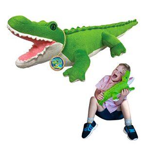 EcoBuddiez Crocodile de Deluxebase. Grande Peluche Douce de 55cm Faite de Bouteilles en Plastique Recyclées. Cadeau Calin écolo pour Enfants et Animal Doux et Mignon pour Bambins. Publicité