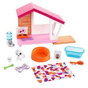Barbie Mobilier coffret dintérieur pour poupée avec niche pour chien, chienne, son chiot et accessoires, jouet pour enfant, FXG34 - Publicité