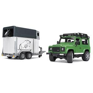bruder 02592 Land Rover Defender 90 Break avec Van et un Cheval Vert - Publicité