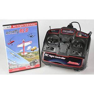 Ikarus Simulateur de vol pour modélisme  aeroflyRC8 avec radiocommande - Publicité