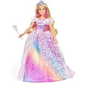 Barbie Dreamtopia poupée Princesse de Rves avec robe brillante  motifs arc-en-ciel, fournie avec brosse et accessoires, jouet pour enfant, GFR45 - Publicité