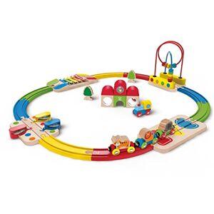 Hape E3816 Circuit de Train en Bois Mon Premier Coffret Arc-en-Ciel - Publicité