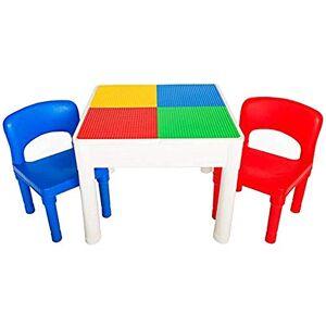 PlayBuild Ensemble de table de jeu 4 en 1 pour enfants Ensemble de table et de chaise pour enfants, pour activités en intérieur, jeux aquatiques en plein air, rangement de jouets avec 2 chaises - Publicité