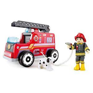 Hape E3024 Jouet d'imitation en Bois Camion de Pompiers - Publicité