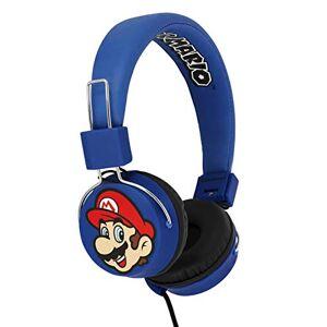 OTL Technologies Casque audio TWEEN pour enfants Super Mario & Luigi (arceau rembourré, volume limité  85 dB, design coloré, mixte), Bleu - Publicité