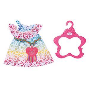 Zapf Creation Tenue pour poupées Robe léopard Arc-en-Ciel 43cm Accessoires pour poupée vêtements de poupée, Multicolore - Publicité