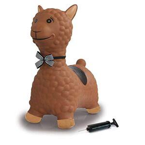 Jamara - Animal Sauteur Lama Rose avec Pompe  jusqu' 50 kg, favorise l'équilibre et la motricité, Robuste et résistant, Facile d'entretien, 460542, Marron - Publicité