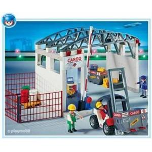 Playmobil 4314 L'Aéroport Manut + Entrepot + Chariot elevate - Publicité