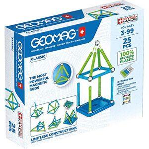 Geomag Jeux de Construction Magnétique pour enfants Jouets éducatifs pour Garons et Filles 100% Recyclé Collection Green Classic 25 pices - Publicité