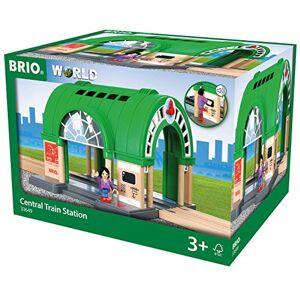 Brio 33649 Gare Centrale Sonore Accessoire pour circuit de train en bois Fonction sonore Piles incluses Jouet pour garons et filles ds 3 ans - Publicité