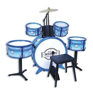 Bontempi -51 4831  Batterie Rock Drummer 5 fts, 514831, Blanc Bleu - Publicité