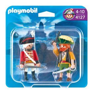 Playmobil 4127 Jeu de construction  Duo Pirate et soldat anglais - Publicité