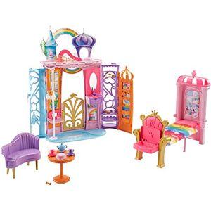 Barbie Mobilier Chteau Dreamtopia Arc-en-Ciel, Maison de Poupée  Emporter, 4 Espaces, Chien Honey et 15 Accessoires Inclus, Jouet pour enfant, FTV98 - Publicité