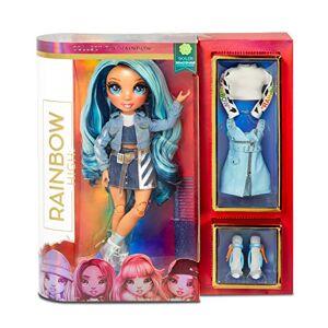 Rainbow Surprise Rainbow High Poupée Mannequin Skyler Bradshaw  Poupée thme bleu avec des tenues de luxe, des accessoires & un socle de poupée Rainbow High Série 1 Pour les enfants de 6 ans et+ - Publicité