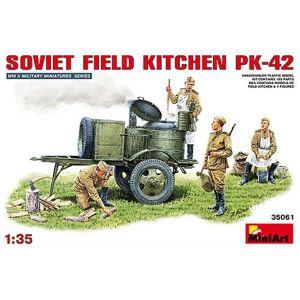 MiniArt Echelle 1: 35Kit de Construction Field Kitchen kp-42Soviétique (Multicolore) - Publicité