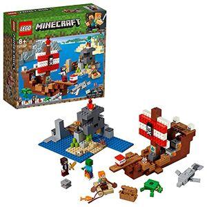 Lego 21152 Minecraft L'AventureduBateauPirate, Le kit de Construction 376 pices - Publicité