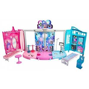 Barbie Ckb78 Maison De Poupée Chteau Spectacle Rock et Royales - Publicité