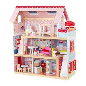 KidKraft Maison de Poupées en Bois Chelsea Incluant Accessoires et Mobilier 3 tages de Jeu, 65054, 30 cm - Publicité