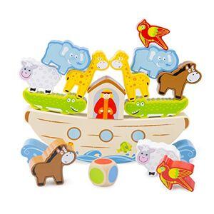 New Classic Toys - Jeu d'Equilibre-L'Arche de Noé, 10548 - Publicité