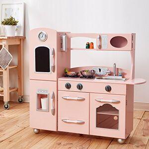Teamson Kids Cuisine Enfant Little Chef dinette en Bois Rose Fille garon Jeux TD-11414P - Publicité