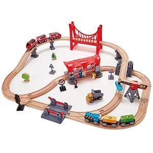 Hape E3730 Circuit de Train en Bois Circuit de la Ville animée - Publicité
