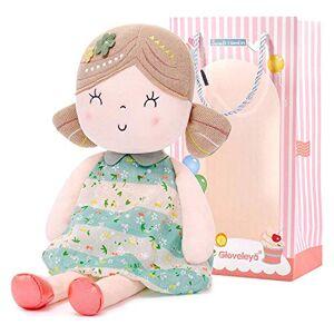 Gloveleya poupée de Chiffon Poupée Jouet Peluche Cadeau Fille 40CM Vert avec Sac Cadeau - Publicité