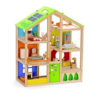 Hape E3401 Jeu d'Imitation en Bois Maison de Poupées Maison toute Saison (meublée) - Publicité