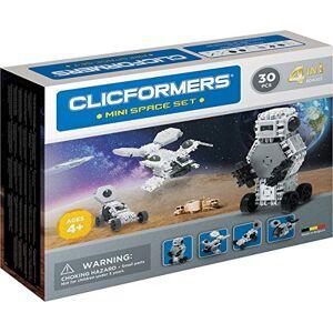 Clicformers Jeu de Construction, Mini Space Set 4 en 1, vaisseaux spatiaux, Jouet Fille et garon STEM pour des Heures de Plaisir, Jeux educatif 4 Ans jusqu' 12 Ans - Publicité