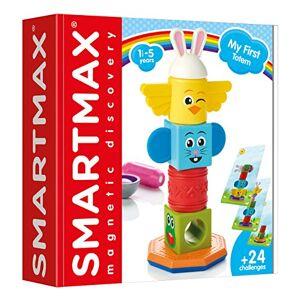 smart games My First Totem, Enfants, Blocs de Construction, Jeux de société pour bébés, Jouets pour Filles et garons, SMX230, Multicolore - Publicité