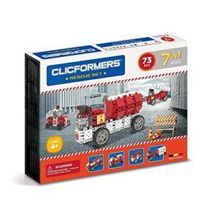 Clicformers Jeu de Construction, Rescue Set 7 en 1, véhicules d'urgence, Jouet Fille et garon STEM pour des Heures de Plaisir, Jeux educatif 4 Ans jusqu' 12 Ans - Publicité