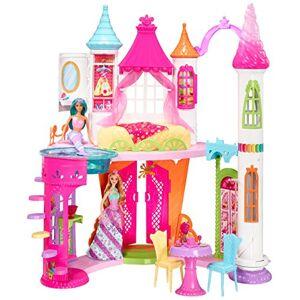 Barbie Mobilier Le Chteau des Bonbons Dreamtopia, maison de poupées avec 8 espaces et accessoires, jouet pour enfant, DYX32 - Publicité