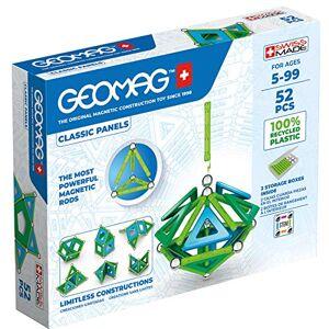 Geomag Jeux de Construction Magnétique pour enfants Jouets éducatifs pour Garçons et Filles 100% Recyclé Collection Green Panels 52 pièces - Publicité