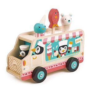 Tender Leaf Transport: Chariot DE CRÈME GLACÉE des PENGOUINS 21,7x10x17,3cm, en Bois, en boîte 23,5x11,4x13,1cm, 18m+ - Publicité