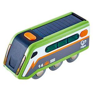 Hape --E3760-Circuit Bois énergie Solaire Solar Powered Train Circuits de Voitures, E3760, Multicolore - Publicité