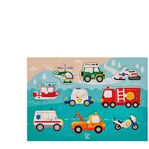 Hape - Puzzle  Boutons Véhicules Prioritaires, E1406, Beige - Publicité