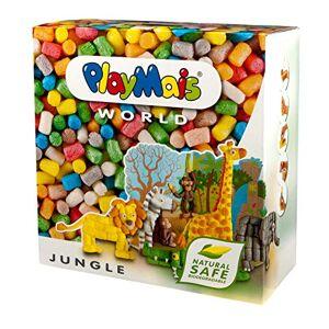 PlayMais World Jungle Jeu de Construction pour Enfants  partir de 3 Ans   1000 pices , modles et Mode d'emploi   stimule la créativité et la motricité   Cadeau pour Filles et garons - Publicité