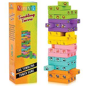 NIMNIK Meilleures Tours Classiques Oscillantes Jeux Amusant pour la Famille pour les Enfants 54 Pices Idées Cadeaux - Publicité