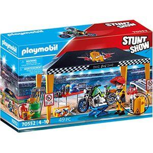 Playmobil Stuntshow Atelier de Réparation avec 1 Personnage Cascadeur & 1 Moto Accessoires Inclus - Publicité