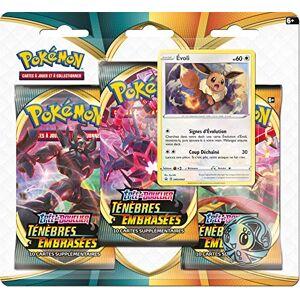 Pokemon Pokémon Epée et Bouclier-Ténèbres Embrasées (EB03) : Pack 3 boosters, 3PACK01EB03 - Publicité