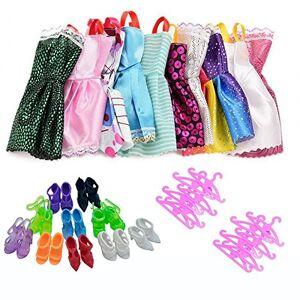 Lance Home 10 Vêtements et 10 Chaussures et 10 Cintres pour Poupée 29cm (30Pcs) - Publicité