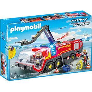 Playmobil Pompiers avec Véhicule Aéroportuaire 5337 - Publicité