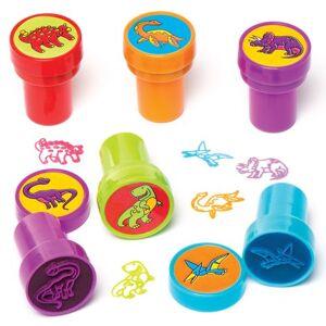 Baker Ross Tampons Dinosaures avec Encre intégrée (Paquet de 10) Mini Jouets - Publicité
